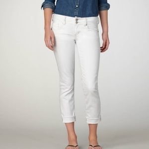 American Eagle White Skinny Crop Jeans 8 AEO